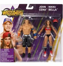 WWE Wrestle Mania Battle Figure Action John Cena and Nikki Bella 6 Inch