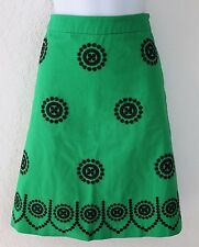 BODEN Fancy Embroidered  A-Line Skirt Bright Green Women's WG504 US 4L NEW $108