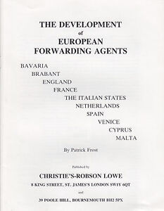 Development of European Forwarding Agents, by P. Frost.