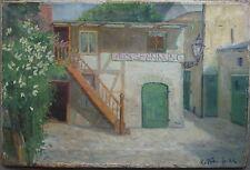 ::ÖLGEMÄLDE °AUSSPANNUNG PFERDE ART DECO JUGENDSTIL UM 1920 SIGNIERT HEINHOLD