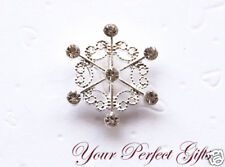 "1"" Snowflake Wedding Invitation Rhinestone Buckles"