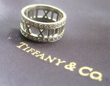 Tiffany & Co Atlas Diamond White Gold Ring 18KT Size 5 0.58CT