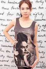 Frida Kahlo Mexican Pop Artist Fashion oo WOMEN T-SHIRT DRESS Tank TOP Size S M