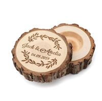 Personalized Wood Ring Holder Ring Bearer Box Wood Ring Box Rustic Country Gift