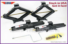 "(4) 5000 lb 24"" RV Trailer Stabilizer Leveling Scissor Jacks w/socket & hardware"