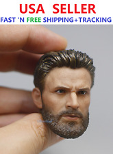 Custom 1/6 scale Chris Evans Captain America Avengers 3 Head Sculpt for 12''