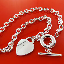 NECKLACE CHAIN 925 STERLING SILVER S/F LINK ANTIQUE BAG T'BAR DESIGN FS3A919