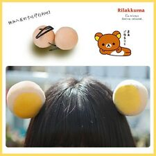 A Pair Of Kawaii Rilakkuma Ear Hairpin Plush Hairpin Cute Girls Hair Accessories
