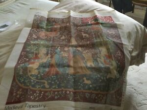 Vintage tapestry canvas.Very Large. Craft Collection All Wools And Instructions.