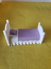 FISHER PRICE SWEET STREETS MINIATURE DOLLHOUSE FURNITURE ACCESSORY KIDS BED ONLY