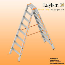 Layher Alu Stufenstehleiter, 2x8 Stuf., L=2,00m, Bockleiter, Topic Typ 1043.008
