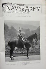 1898 BOER WAR ERA PRINT ~ THE GERMAN EMPEROR TROPICAL UNIFROM PALESTINE