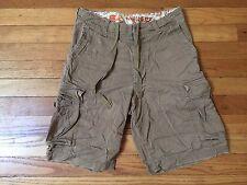Hollister Men's Khaki Cargo Shorts Size 28