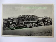 WORLD WAR TWO ERA GERMAN REAL-PHOTOGRAPH MILITARY TROOP CARRIER POSTCARD F808/20