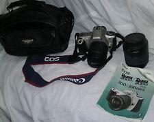 CANON EOS REBEL 2000 SLR FILM CAMERA W/ CANON ZOOM EF 80-200mm LENS & MORE
