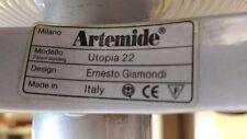 Lampada Artemide Utopia struttura in metallo verniciato grigio metallizzato