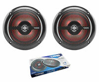 "Pair of Black DS18 HYDRO 6.5"" 200W 4 Ohm 2 Way Slim Marine Speakers NXL-6SL"