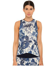 Jean Paul Gaultier Flower Viscose Tank Tunic Elettrico women's size XL