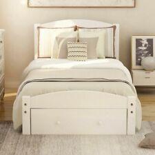 Twin Size Solid Wooden Platform Bed Frame Foundation w/Storage Drawer Wood Slats