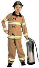 Kids Firefighter Fireman Child Costume Size Medium