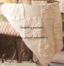 (579) Heirloom Baby Pram/ Cradle Cover in Leaf Motif, 4 Ply Knitting Pattern