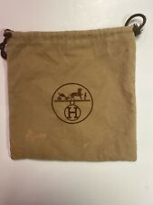 "HERMES PARIS Velvet Dust Bag 8.5"" x 8.5"" Drawstring"