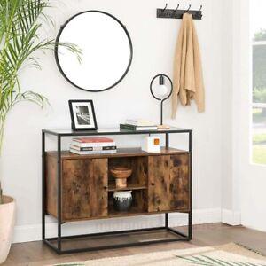 Modern Industrial Console Table Vintage Side Cabinet Sideboard Hallway Kitchen