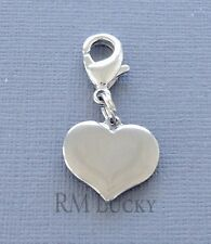 Dangle Heart Stainless steel Clip On Charm Clasp Fit Link Chain, locket C20
