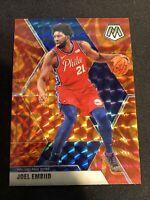 2019-20 Mosaic Joel Embiid Orange Reactive Philadelphia 76ers