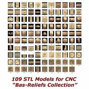 """109 3d STL Models - """" Bas-Relief Collection """" for CNC artcam 3d printer aspire"""