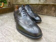 ALFRED SARGENT BROGUES MEN'S SHOES - BLACK – UK 8 – PLYMOUTH - SUPERB CONDITION