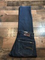 Men's G Star 3301 Raw Dark Blue Denim Jeans Size 30x32 Straight Leg