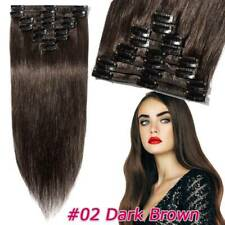 CLEARANCE Any Color Clip In 100% Real Remy Human Hair Extensions Full Head US