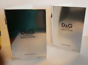 Dolce & Gabbana D&G Masculine  2 x 1,5 ml EDT Phiolen / Proben (Vintage)
