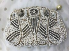 Vtg Bridal Clutch Beaded Evening Bag Purse 20s 30s 40s 50s 60s Art Deco Flapper