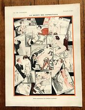 1920s Vie Parisienne French Magazine Page- The Exposition Season