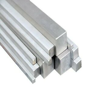 Stainless steel square bar Solid 6mm to 25mm Square 304 - all lengths