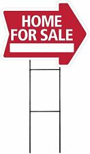 Home For Sale - RED - Arrow Shaped Sign Kit with Stand (K-S205)