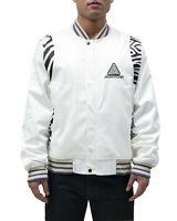 Black Pyramid White Future Retro Varsity Jacket