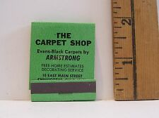VINTAGE THE CARPET SHOP CHILLICOTHE OHIO GREEN ADVERTISING MATCHBOOK