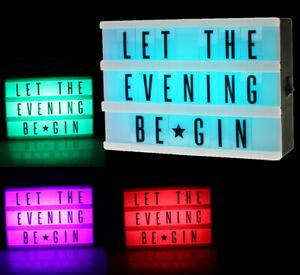 LED Lightbox RGB Multicolor inkl. Buchstabenset mit Farbwechsel Leuchtkasten
