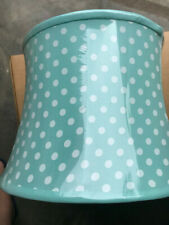 Pottery Barn Kids Aqua Blue Concave Mini Dot Lamp Shade NEW