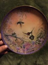 Hummingbird collector plate Wings Of Grace Martin Nature'S Little Treasures #2