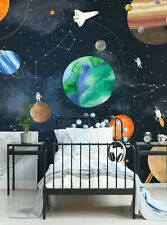 Space Mural Wall Art Wallpaper (6 Sheet Pack - 2ft x 9ft) - Peel and Stick