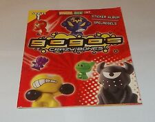 Crazy Bones Gogos SERIES 1 STICKER BOOK - 80 Set Stickers & 3 Most Wanted Sticke