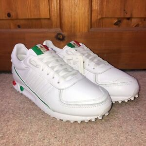 Adidas La Trainer II White Green & Red Italy Trainers Mens Size UK 10 Brand New
