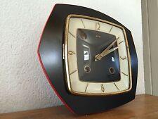 superbe horloge pendule formica FFR noir et rouge  sonore Des Années 50's/ 60's