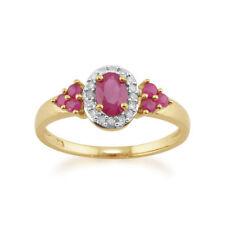 Gioielli di lusso naturale con rubino ovale