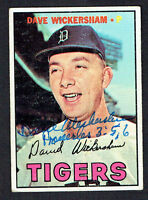 Dave Wickersham #112 signed autograph auto 1967 Topps Baseball Trading Card