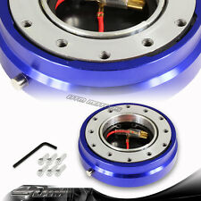 "1"" Blue 6-Hole Steering Wheel Short Quick Release Hub Adapter Kit Universal 3"